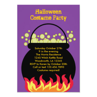 Invitación del fiesta de Halloween de la caldera
