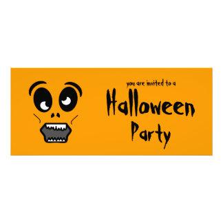Invitación del fiesta de Halloween de la cara del