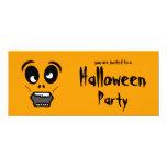 Invitación del fiesta de Halloween de la cara del Invitación 10,1 X 23,5 Cm