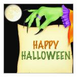 Invitación del fiesta de Halloween de la letra de