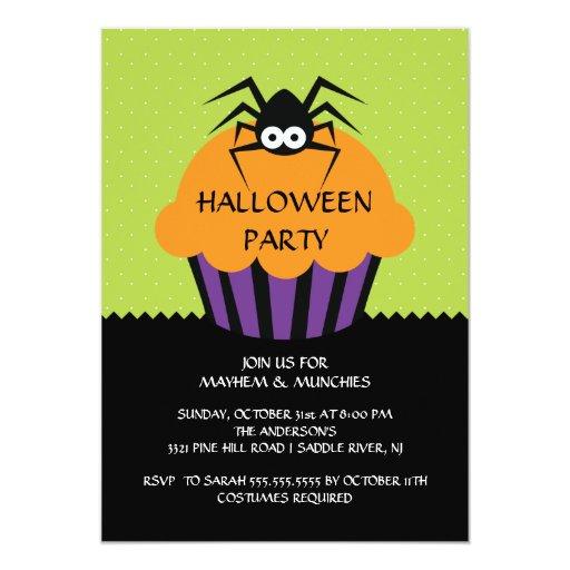 Invitación del fiesta de Halloween de la magdalena