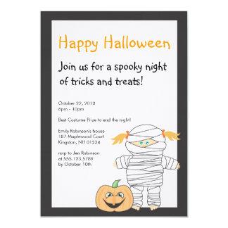 Invitación del fiesta de Halloween de la momia
