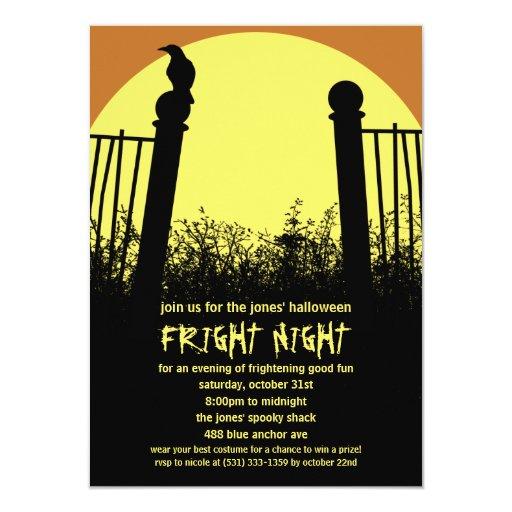 Invitación del fiesta de Halloween de la noche del
