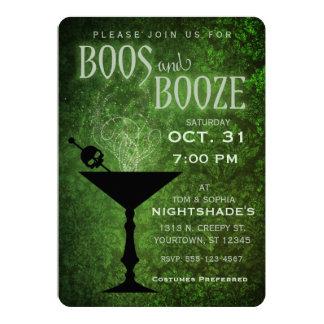 Invitación del fiesta de Halloween de los abucheos