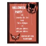 Invitación del fiesta de Halloween de los cráneos Tarjeta Postal