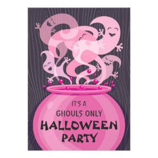 Invitación del fiesta de Halloween de los espíritu
