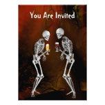 Invitación del fiesta de Halloween de los esquelet
