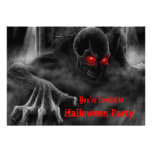 Invitación del fiesta de Halloween de los zombis