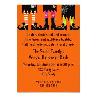 Invitación del fiesta de Halloween de tres brujas Invitación 12,7 X 17,8 Cm