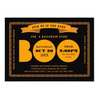 Invitación del fiesta de Halloween del abucheo