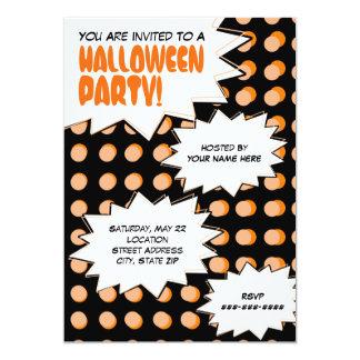 Invitación del fiesta de Halloween del arte pop