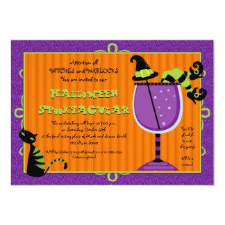 Invitación del fiesta de Halloween del Brew de la
