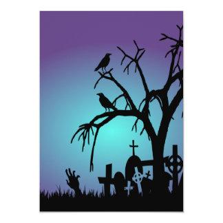 Invitación del fiesta de Halloween del cementerio