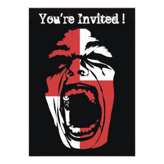 Invitación del fiesta de Halloween del chillón