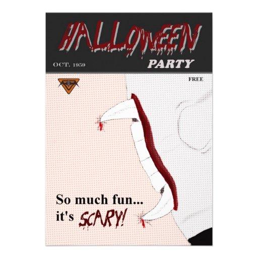 Invitación del fiesta de Halloween del cómic de la