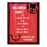 Invitación del fiesta de Halloween del cráneo Tarjetas Postales