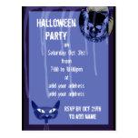 Invitación del fiesta de Halloween del cráneo Postales