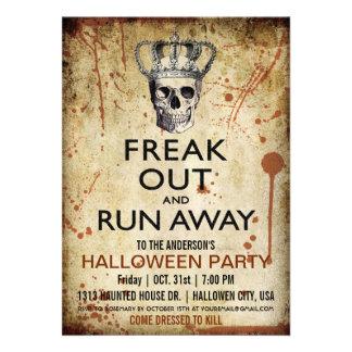 Invitación del fiesta de Halloween del cráneo y de