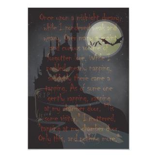 """Invitación del fiesta de Halloween """"del cuervo"""" Invitación 12,7 X 17,8 Cm"""