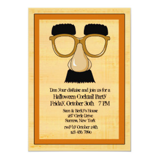 Invitación del fiesta de Halloween del disfraz