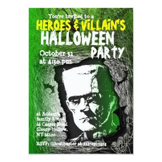 Invitación del fiesta de Halloween del malvado del