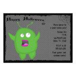 Invitación del fiesta de Halloween del monstruo y