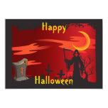 Invitación del fiesta de Halloween del parca Invitación 12,7 X 17,8 Cm