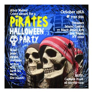 Invitación del fiesta de Halloween del pirata