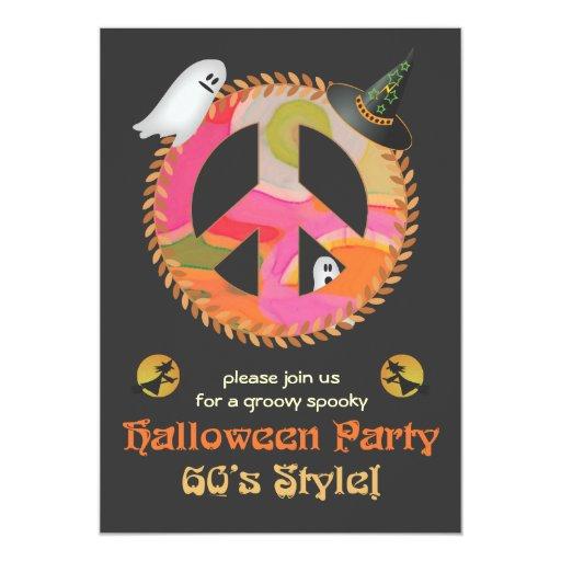 invitación del fiesta de Halloween del tema de los Invitación 12,7 X 17,8 Cm