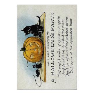 Invitación del fiesta de Halloween del vintage