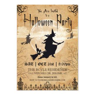 Invitación del fiesta de Halloween del vintage de