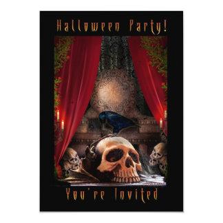 Invitación del fiesta de Halloween - guarida de