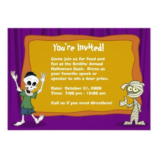 Invitación del fiesta de Halloween (personalizable