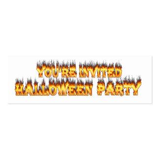 invitación del fiesta de Halloween Tarjetas De Visita Mini