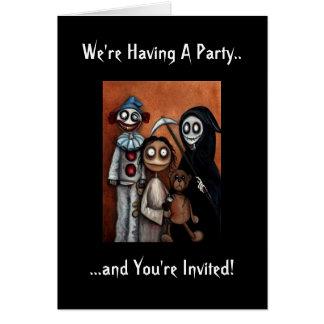 Invitación del fiesta de Halloween Tarjeta Pequeña