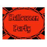 Invitación del fiesta de Halloween Tarjetas Postales