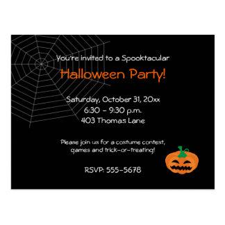 Invitación del fiesta de Halloween Tarjeta Postal