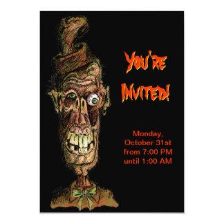 Invitación del fiesta de Halloween - zombi de nuez