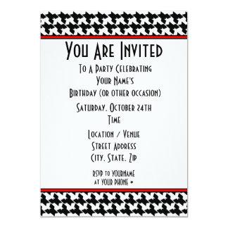 Invitación del fiesta de Houndstooth