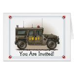 Invitación del fiesta de Hummer del equipo de GOLP Tarjeton