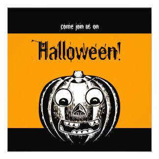 Invitación del fiesta de Jack O Lantern Halloween