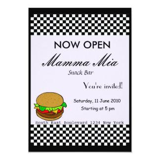 Invitación del fiesta de la abertura del snack bar