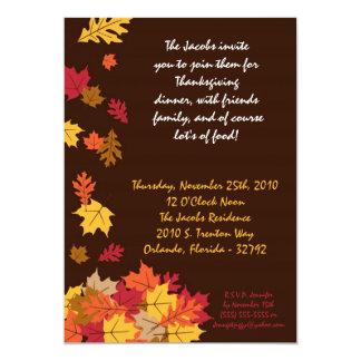 invitación del fiesta de la acción de gracias de