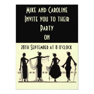Invitación del fiesta de la aleta de los años 20