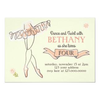 Invitación del fiesta de la bailarina/del ballet