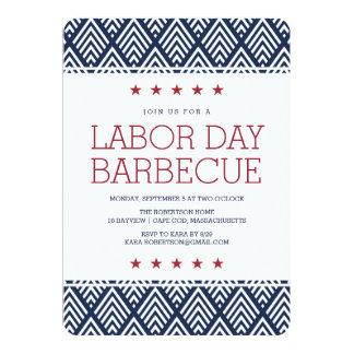 Invitación del fiesta de la barbacoa del Día del