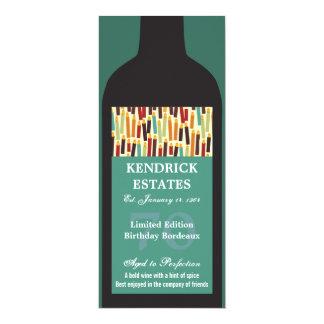 Invitación del fiesta de la botella de vino