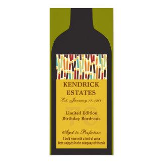 Invitación del fiesta de la botella de vino del