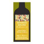 Invitación del fiesta de la botella de vino del invitación 10,1 x 23,5 cm