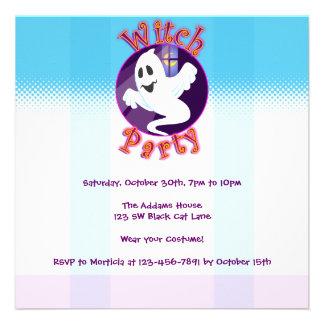 Invitación del fiesta de la bruja